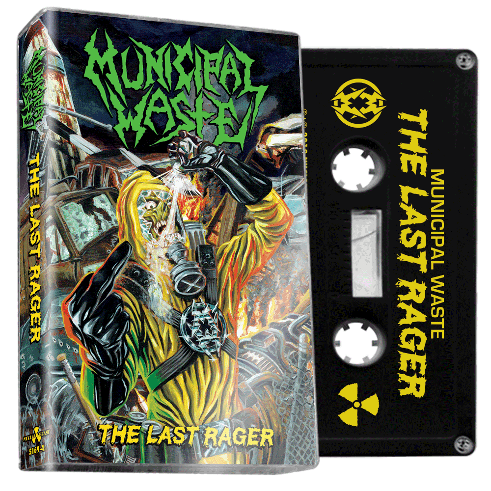 MUNICIPAL WASTE - The last rager - BRAND NEW CASSETTE TAPE