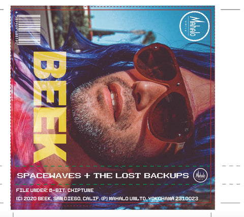 BEEK - space waves + the lost backups [2 tape set] - BRAND NEW CASSETTE TAPES [Cassette Week 2020]