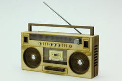 Hardwood Boombox - Miniature Art Object