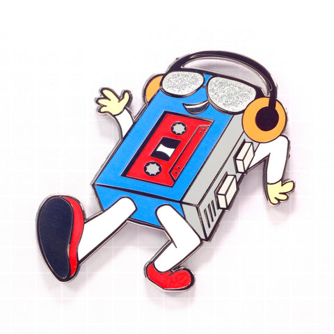 """WALKING MAN"" ENAMEL PIN [FULL COLOR]"