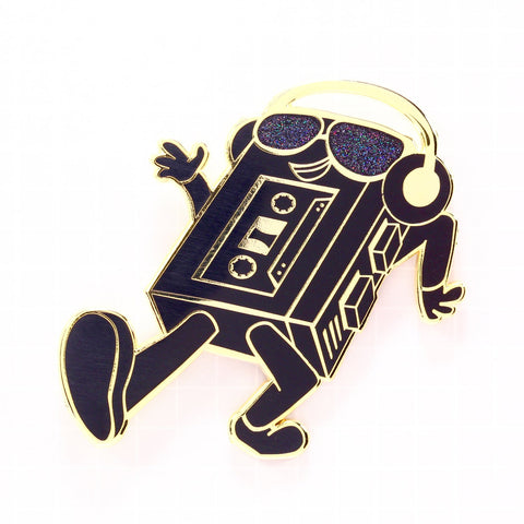"""WALKING MAN"" LIMITED EDITION ENAMEL PIN [GOLD/BLACK]"