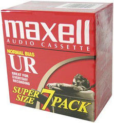 MAXELL - AUDIO CASSETTE 7 PACK - normal bias - BRAND NEW