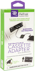 ReTrak ETESCAS Retractable Cassette Adapter + Mic Black