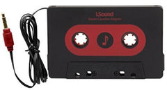 iSound 1642 Car Stereo Cassette Adapter Black