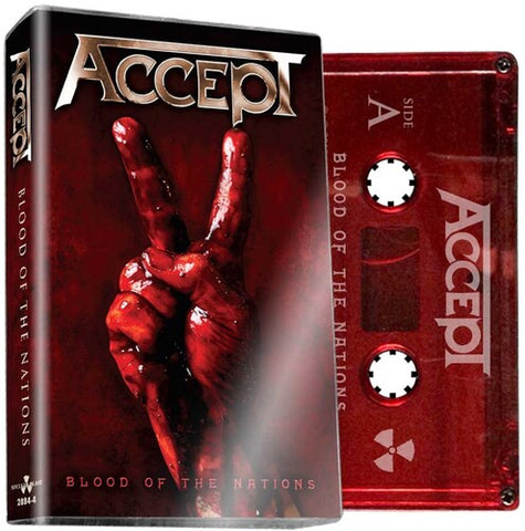 ACCEPT - Blood Of The Nations - BRAND NEW CASSETTE TAPE [pre-order]