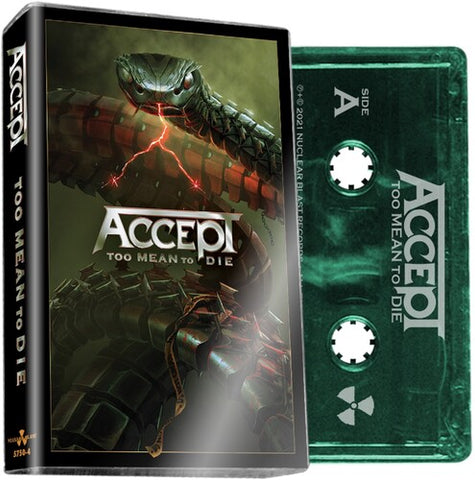 ACCEPT - Too Mean To Die - BRAND NEW CASSETTE TAPE [PRE-ORDER]