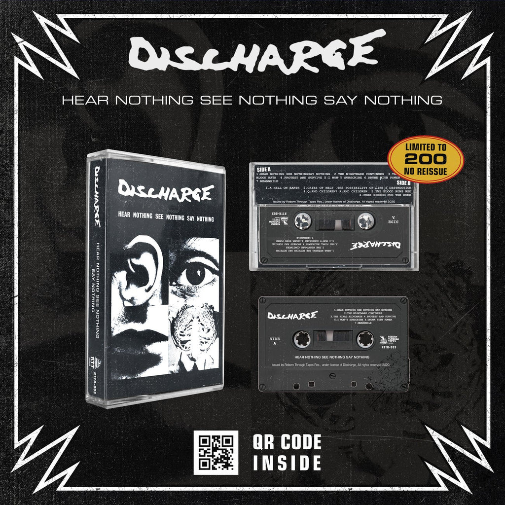 DISCHARGE - HEAR NOTHING, SEE NOTHING, SAY NOTHING - BRAND NEW CASSETTE TAPE