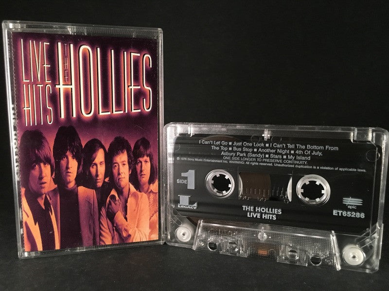 THE HOLLIES - live hits - CASSETTE TAPE