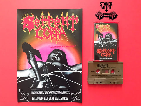 SERPENT COBRA - anatomy of abuses - BRAND NEW CASSETTE TAPE w/ poster