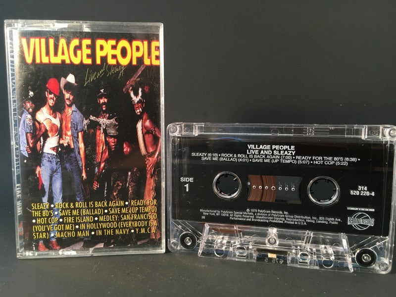 VILLAGE PEOPLE - live & sleazy - CASSETTE disco