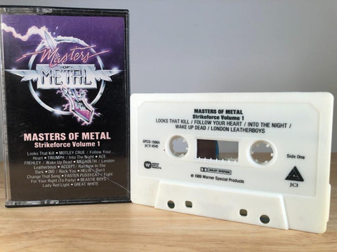 MASTERS OF METAL: STRIKEFORCE Vol.1 - various artists - CASSETTE TAPE