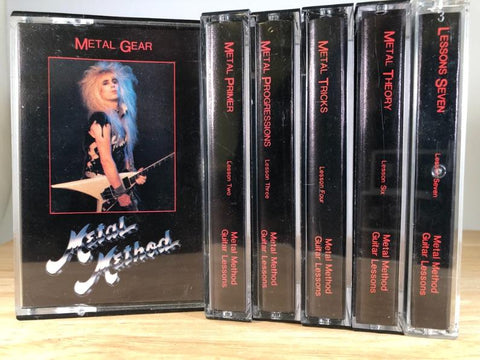 METAL METHOD GUITAR LESSON COLLECTION (missing tape 5)- CASSETTE TAPE