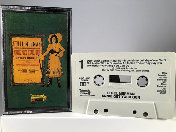 ANNIE GET YOUR GUN : ETHER MERMAN - musical - CASSETTE TAPE