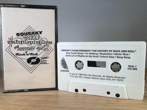SQUEAKY CLEAN PRESENTS : the histoy of rock and roll - CASSETTE TAPE