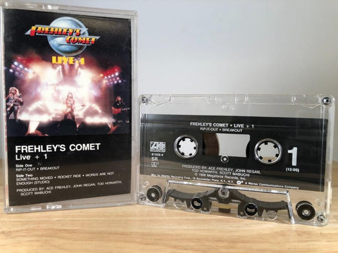 FREHLEY'S COMET - live + 1 - CASSETTE TAPE