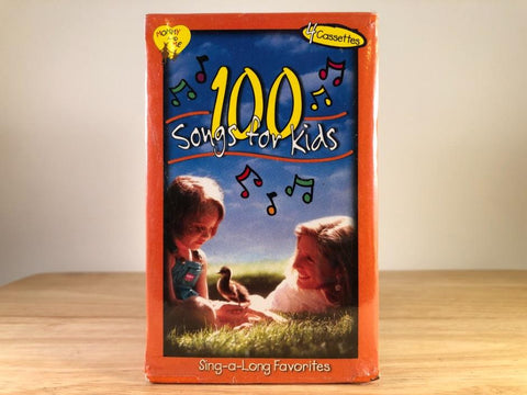 MOMMY AND ME: 100 SONGS FOR KIDS - sing-a-long favorites [4 tape set] - BRAND NEW CASSETTE TA{ES