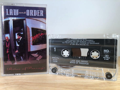 LAW AND ORDER - rites of passage - CASSETTE TAPE