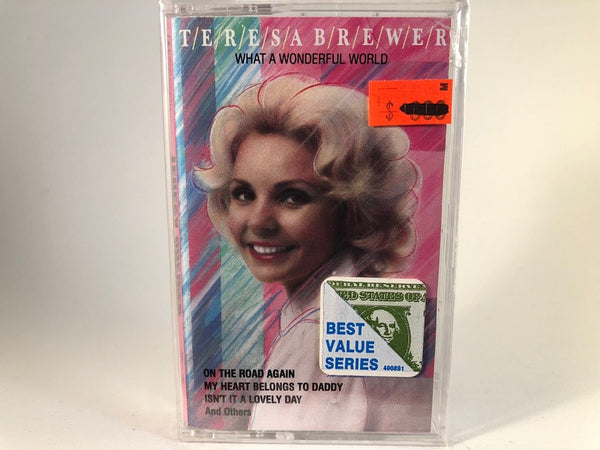 TERESA BREWER - what a wonderful world - BRAND NEW CASSETTE TAPE