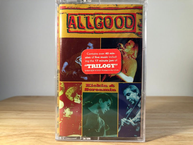 ALL GOOD - kickin' & screamin - BRAND NEW CASSETTE TAPE