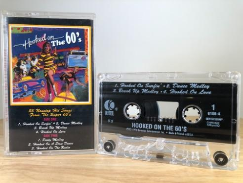 HOOKED ON THTE 60'S - various artists - CASSETTE TAPE