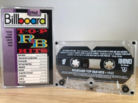 BILLBOARD TOP R&B HITS 1962 - various artists - CASSETTE TAPE
