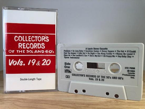 COLLECTOR'S RECORDS OF THE 50S AND 60'S VOL.19 AND 20 - various artists - CASSETTE TAPE