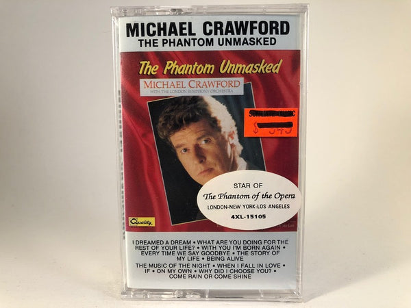 Michael Crawford – the phantom unmasked - BRAND NEW CASSETTE TAPE - vocals