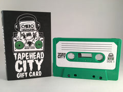TAPEHEAD CITY GIFT CARD/ BLANK CASSETTE  - GREEN