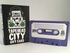TAPEHEAD CITY GIFT CARD/ BLANK CASSETTE - PURPLE