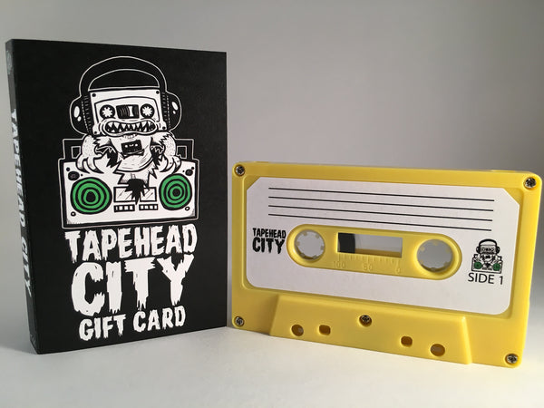 TAPEHEAD CITY GIFT CARD/ BLANK CASSETTE - YELLOW