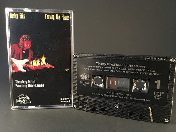 TINSLEY ELLIS - fanning the flames - CASSETTE TAPE blues