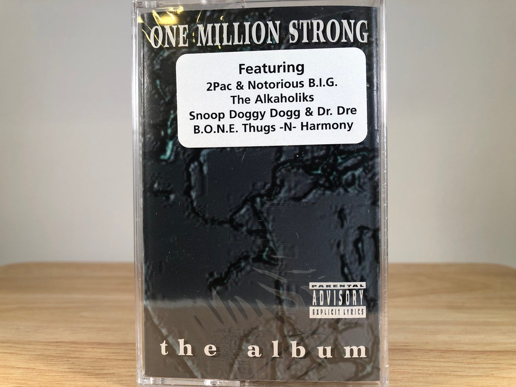 ONE MILLION STRONG - the album - BRAND NEW CASSETTE TAPE - [2pac.notorious B.I.G., Snoop, DRE
