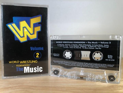 WWF THE MUSIC - various artists vol. 2 - CASSETTE TAPE