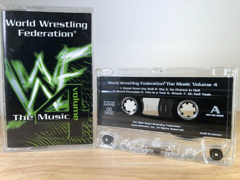 WWF THE MUSIC - various artists vol. 4 - CASSETTE TAPE