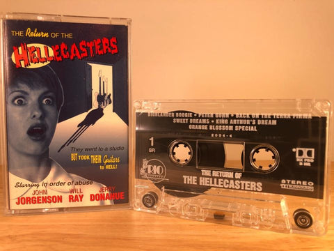 THE HELLECASTERS - return of the hellecasters - CASSETTE TAPE