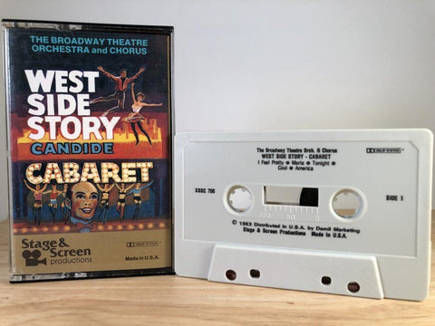 WEST SIDE STORY : CABARET - the broadway theatre orch & chorus - CASSETTE TAPE