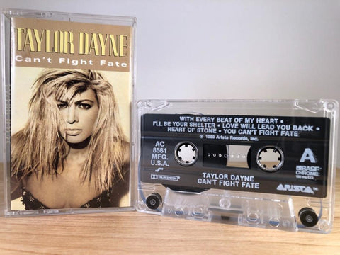 TAYLOR DAYNE - can't fight fate - CASSETTE TAPE