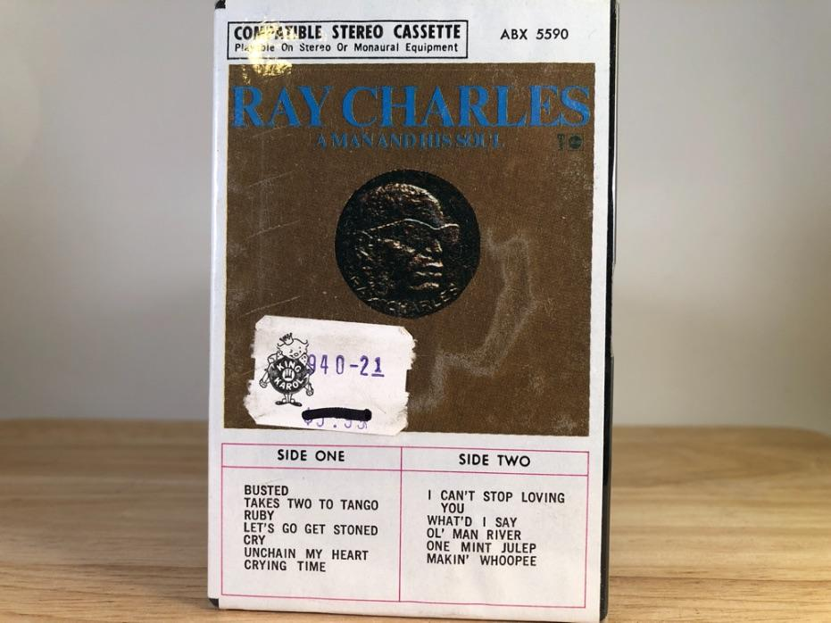 RAY CHARLES - a man and his soul PART1- BRAND NEW CASSETTE TAPE [AMPEX]