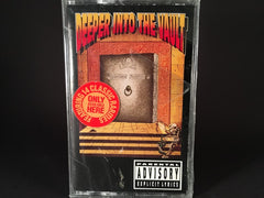 Deeper Into The Vault - various artists - BRAND NEW CASSETTE TAPE - metal [anthrax, testament, overkill, mercyful fate]