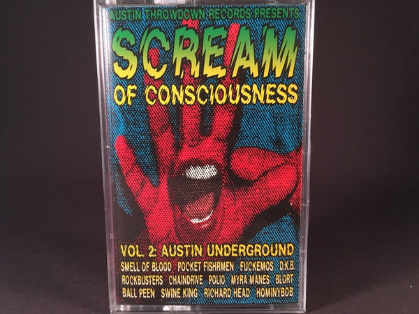 Scream Of Consciousness Vol. 2 Austin Underground - various artists - BRAND NEW CASSETTE TAPE - compilations