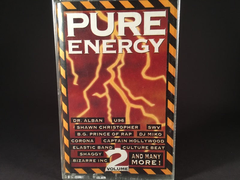 Pure Energy Volume 2 - various artists - BRAND NEW CASSETTE TAPE - EDM