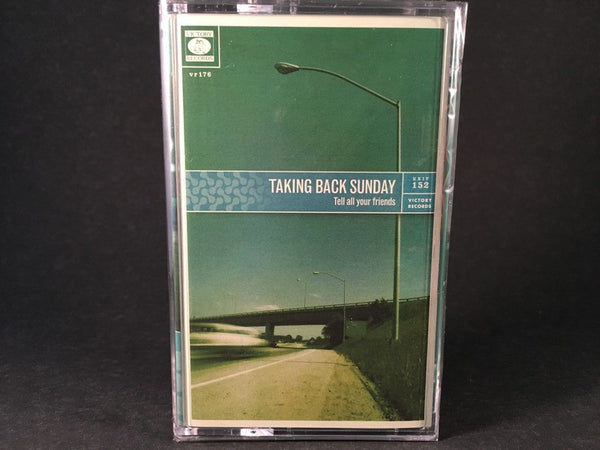 TAKING BACK SUNDAY - tell all your friends - BRAND NEW CASSETTE TAPE