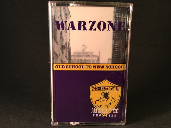 WARZONE - oldschool to new school - BRAND NEW CASSETTE TAPE
