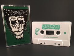 SANDWORMS - its a fucking demo - CASSETTE TAPE (NEW) punk DBR