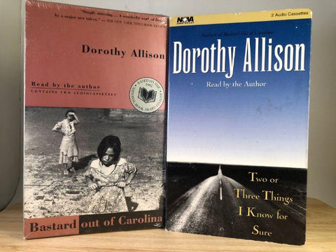 DOROTHY ALLISON - bastard out of carolina (sealed) & two or three things i know for sure (used) - Books on tape