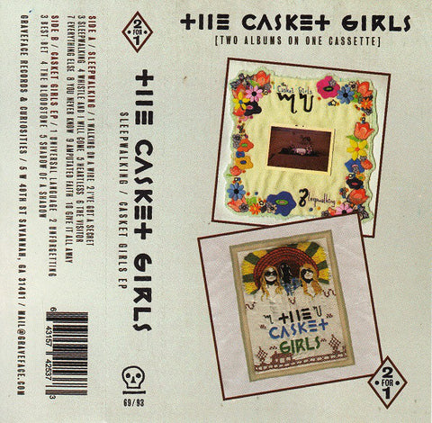 The Casket Girls ‎– Sleepwalking / Casket Girls (2•For•1 - Two Albums On One Cassette)