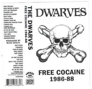 THE DWARVES - free cocaine 1986-88 - BRAND NEW CASSETTE TAPE