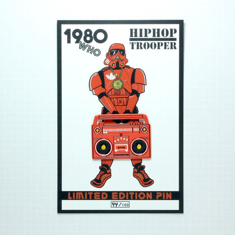 HIP HOP TROOPER BOOMBOX PIN