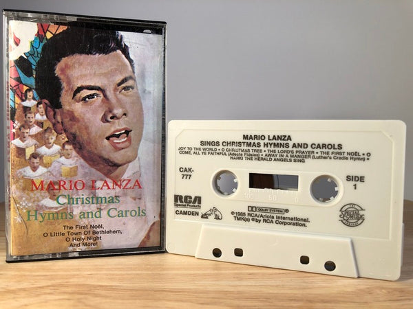 MARIO LANZA - sings christmas hymns and carols - CASSETTE TAPE