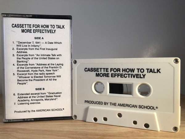 HOW TO TALK MORE EFFECTIVELY - CASSETTE TAPE